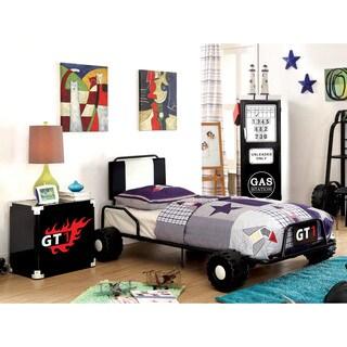 Furniture Of America Jamie Metal 3 Piece Racing Twin Size Bedroom Set