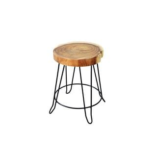 Crafted Home Aiden Stool-Iron Legs