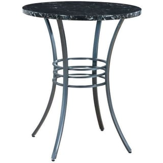 Black Metal 30-inch Round Counter Height Table