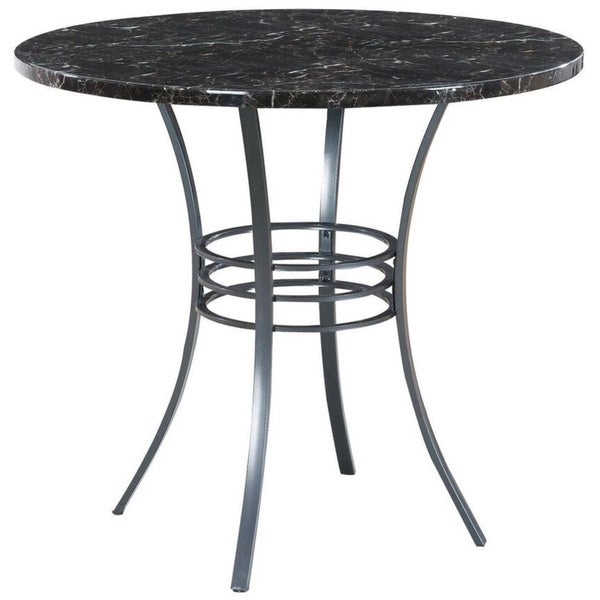 Black Metal 40 Inch Round Counter Height Table Free