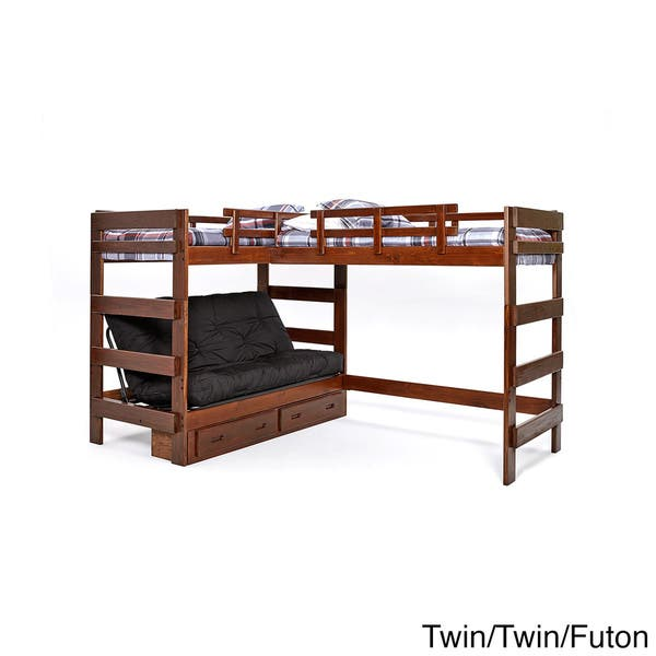 Woodcrest Heartland Collection L Shaped Twin Or Futon