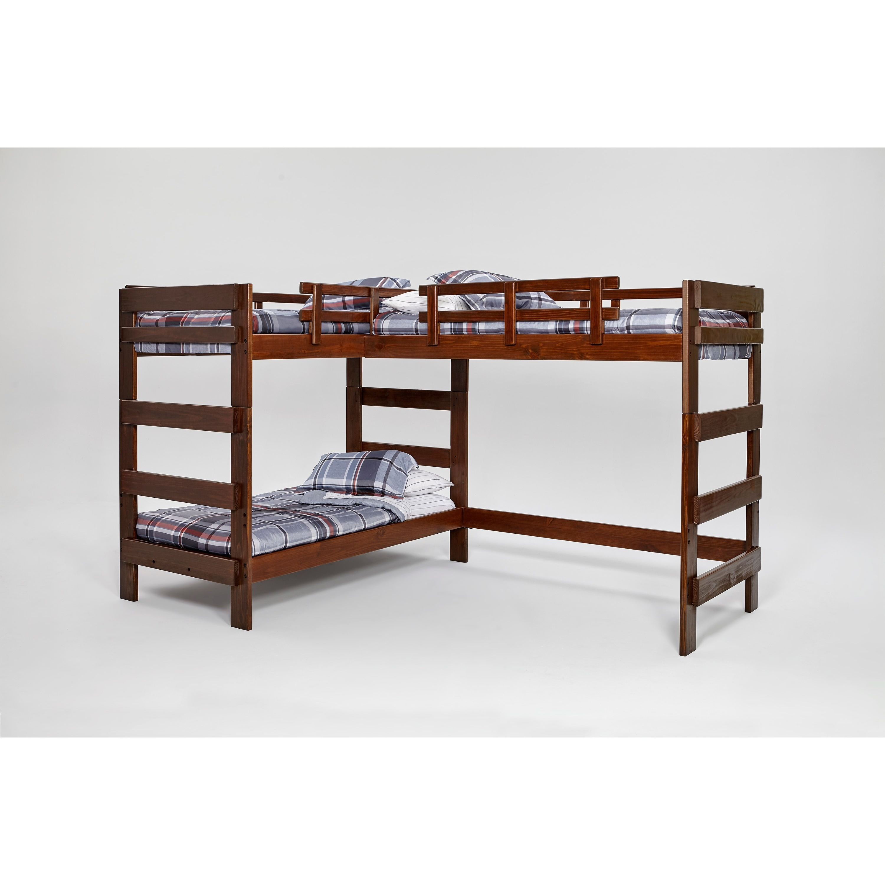 Shop Woodcrest Heartland Collection L-shaped Twin or Futon Bunk ...