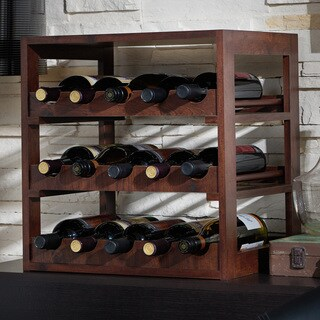 The Gray Barn Red River Vintage Walnut 15-bottle Wine Rack
