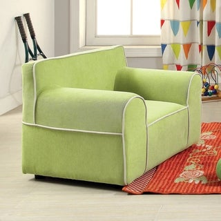 Furniture of America Marcie Flannelette Upholstered Kids Club Chair
