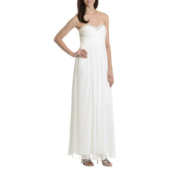 Embellished Bodice Strapless Wedding Gown: Decode 1.8 Women's Strapless Embellished Bodice Evening