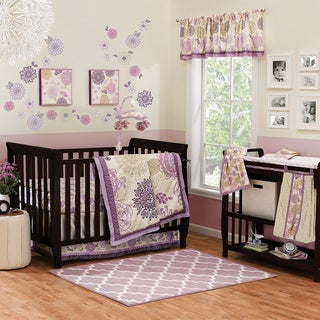The Peanut Shell Dahlia 4-piece Girl Crib Bedding Set