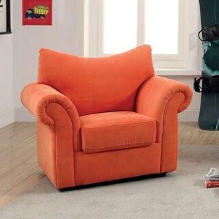 Furniture of America Sasha Flannelette Upholstered Flared Arm Chair