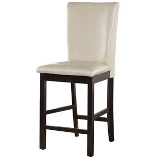 Lacey Medium Brown Faux Leather Double Bar Stool Set Of 2