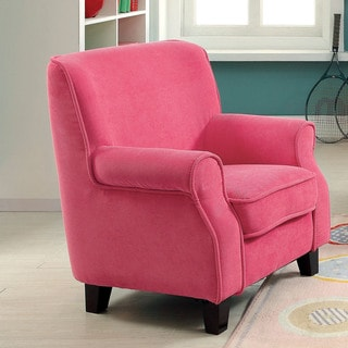 Furniture of America Remmie Flannelette Upholstered Kids Arm Chair