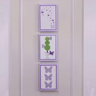 Petit Tresor Papillon Embellished Canvas Set