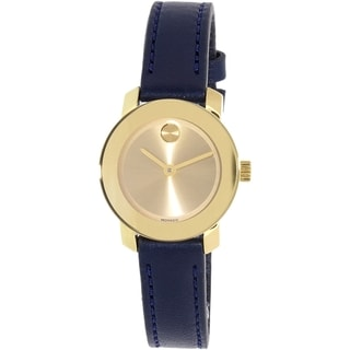 Movado Women's Blue Leather Bold 3600330 Swiss Quartz Watch