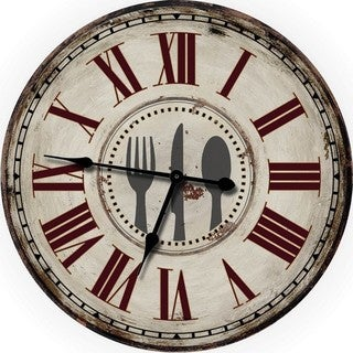Country Decor Fork, Knife and Spoon Wall Clock