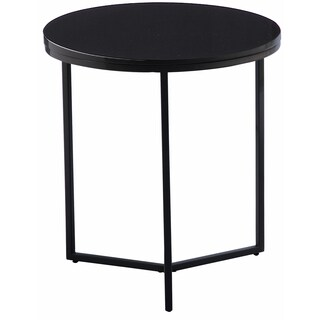 Felix High Gloss Lacquer Top Grey Wood and Lacquer and Metal and Chrome End Table