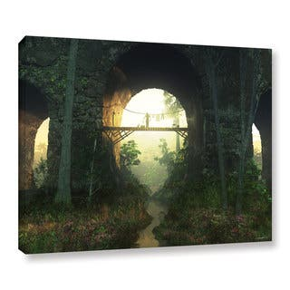 ArtWall Cynthia Decker 'Bridge Under The Bridge' Gallery-wrapped Canvas|https://ak1.ostkcdn.com/images/products/11407870/P18372613.jpg?impolicy=medium