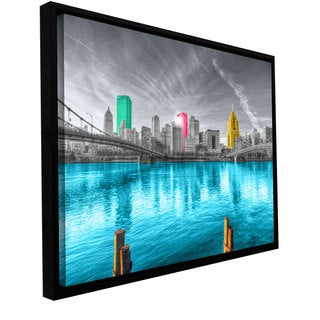 ArtWall Revolver Ocelot's Pittsburgh Gallery Wrapped Floater-framed Canvas