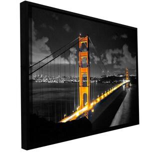 ArtWall Revolver Ocelot's San Fransisco Bridge I Gallery Wrapped Floater-framed Canvas