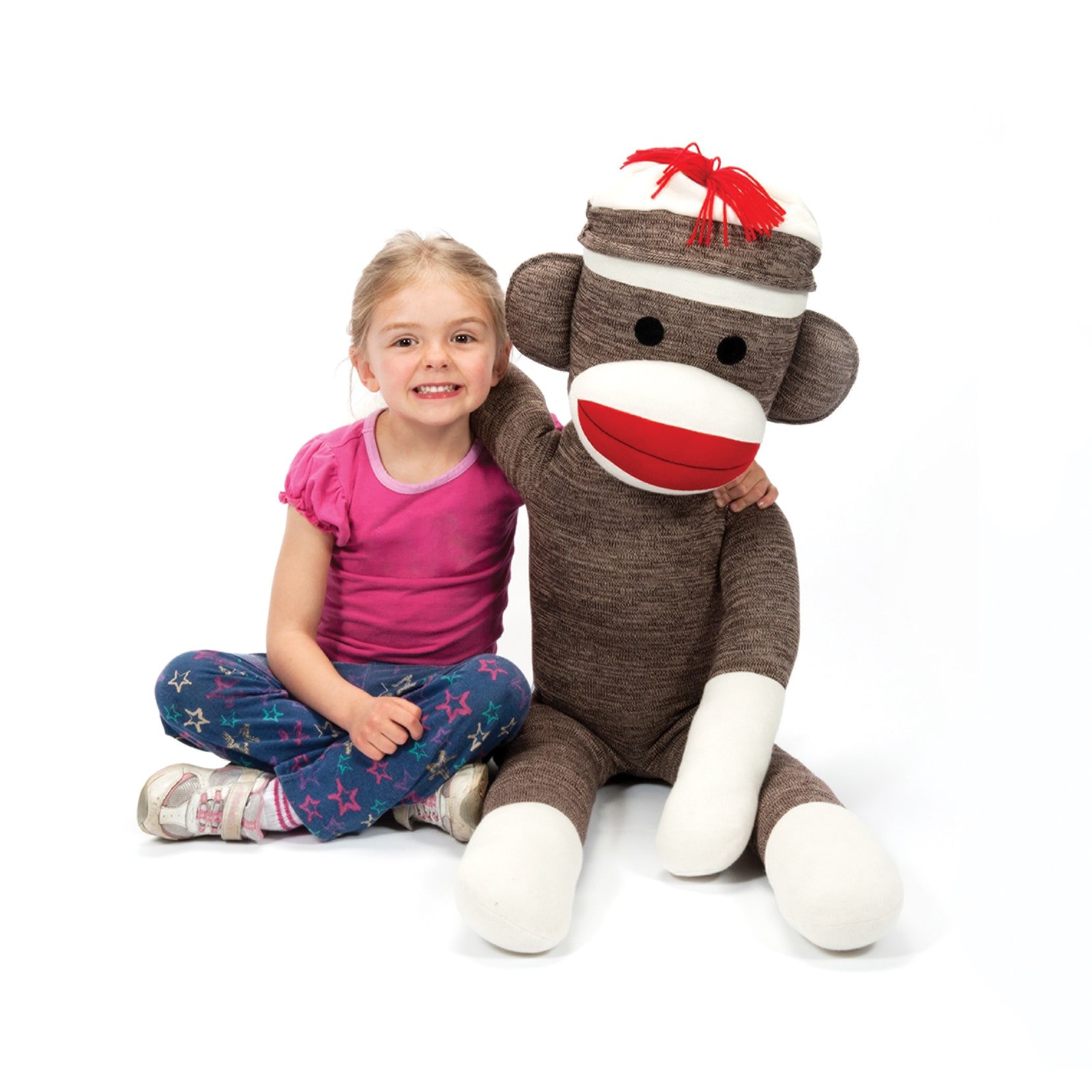 Schylling Jumbo Sock Monkey Stuffed Animal (G019649228713...