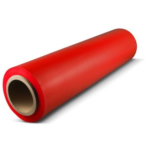 18 In x 1500 Ft x 80 Ga Red Pallet Hand Wrap Plastic Stretch-Wrap 4 Rolls