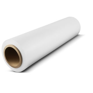 18 In x 1500 Ft x 80 Ga White Pallet Hand Wrap Plastic Stretch-Wrap 16 Rolls