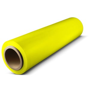 18 In x 1500 Ft x 80 Ga Yellow Pallet Hand Wrap Plastic Stretch-Wrap 16 Rolls