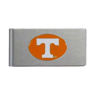 Tennessee Volunteers Sports Team Logo Brushed Metal Money Clip