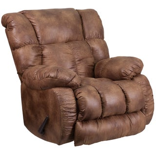 Contemporary, Breathable Comfort Padre Almond Fabric Rocker Recliner