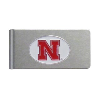 Nebraska Cornhuskers Sports Team Logo Brushed Metal Money Clip