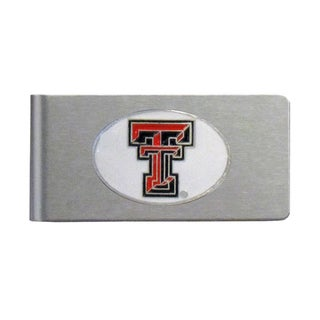 Texas Tech Raiders Sports Team Logo Brushed Metal Money Clip