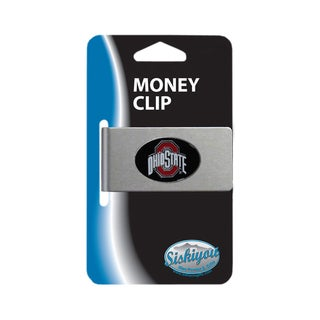 Ohio State Buckeyes Sports Team Logo Brushed Metal Money Clip