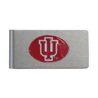 Indiana Hoosiers Sports Team Logo Brushed Metal Money Clip