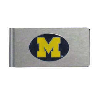 Michigan Wolverines Sports Team Logo Brushed Metal Money Clip