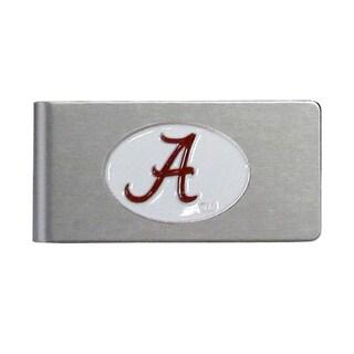 Alabama Crimson Tide Sports Team Logo Brushed Metal Money Clip