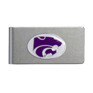 Kansas State Wildcats Sports Team Logo Brushed Metal Money Clip
