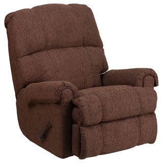 Contemporary Couger Chenille Rocker Recliner  sc 1 st  Overstock.com & Plush Chocolate Microfiber Recliner Chair - Free Shipping Today ... islam-shia.org
