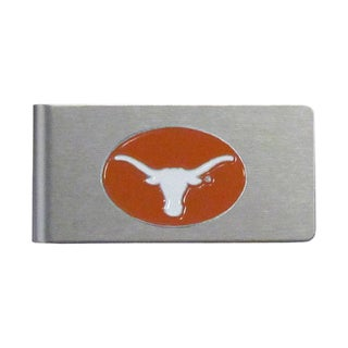 Texas Longhorns Sports Team Logo Brushed Metal Money Clip