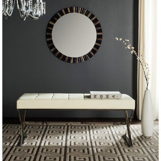 Safavieh Modern Glam Micha Tufted Cream Bench