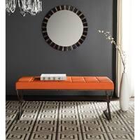 Safavieh Modern Glam Micha Tufted Orange Bench