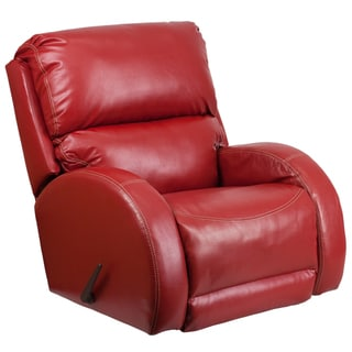 Contemporary Ty Red LeatherSoft Rocker Recliner