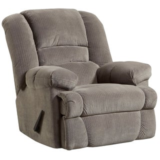 Contemporary Dynasty Microfiber Rocker Recliner (Option: Smoke)