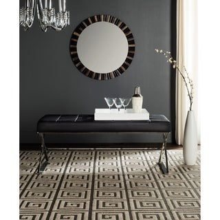 Safavieh Modern Glam Micha Tufted Black Bench