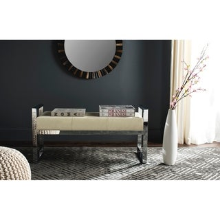 Safavieh Modern Glam Slade Cream Bench