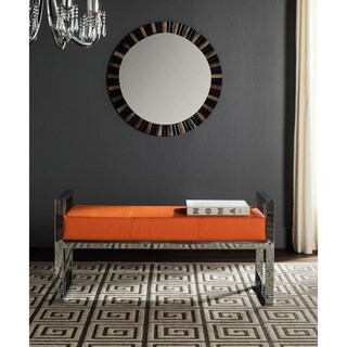 Safavieh Modern Glam Slade Orange Bench