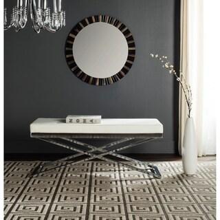 Safavieh Acra White/ Silver Bench