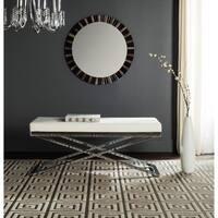 Safavieh Modern Glam Acra White/ Silver Bench
