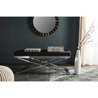 Safavieh Modern Glam Acra Black/ Silver Bench