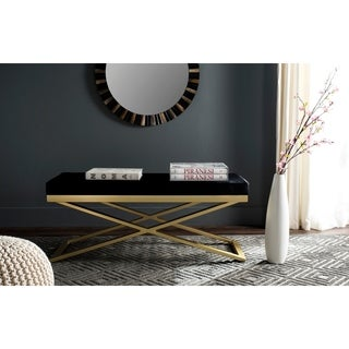 Safavieh Acra Black/ Gold Bench