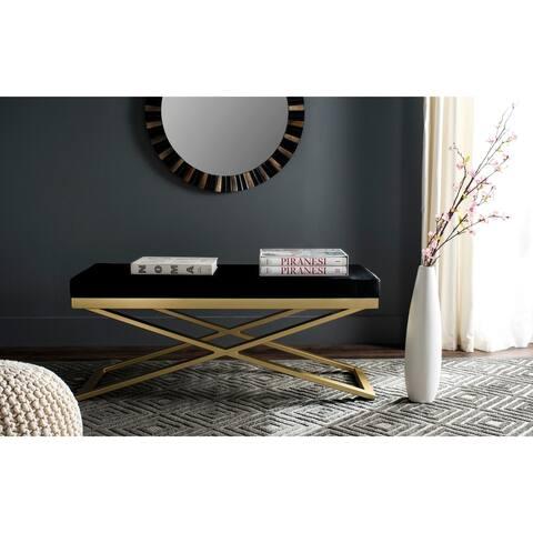 SAFAVIEH Acra Black/ Gold Bench