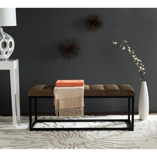 "Safavieh Reynlds Tan/ Black Bench - 48"" x 18"" x 19.5"""