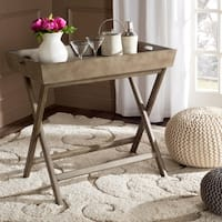Safavieh Ainsley Saddle Brown Tray Table