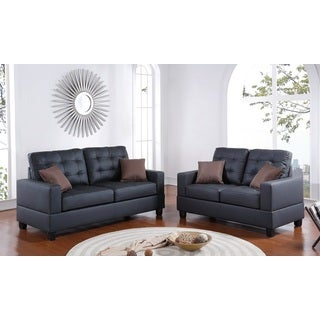 Imola Loveseat and Sofa Upholstered in Faux Leather